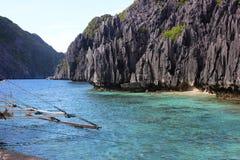 Traditionelle filippino Insel im Meer, Philippinen Stockbild