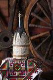 Traditionelle Flasche Wein Lizenzfreie Stockfotografie