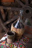 Traditionelle Flasche Wein Lizenzfreies Stockbild