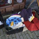 Traditionelle Flohmarkt am Ziegelstein-Weg Ziegelstein-WegFlohmarkt lässt jeden Sonntag laufen lizenzfreies stockbild