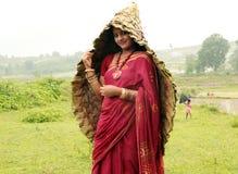 Traditionelle Frau stockfoto