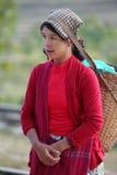 Traditionelle Frauen von Myanmar Lizenzfreie Stockfotos