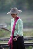 Traditionelle Frauen von Myanmar Stockbilder