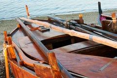 Traditionelle galizische Fischerboote Stockfotos