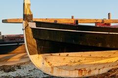 Traditionelle galizische Fischerboote Lizenzfreies Stockbild