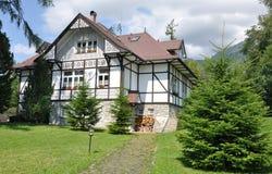 Traditionelle Gebäude, Slowakei, Europa Stockfotografie