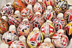 Traditionelle gemalte Eier Stockfotos