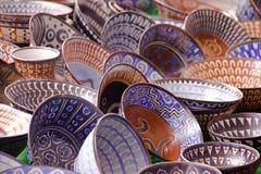 Traditionelle gemalte Platten von Mexiko stockbild