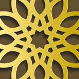 Traditionelle geometrische dekorative Mustergoldostart Arabischer Musterhintergrund Islamischer Verzierungsvektor Lizenzfreie Stockfotos