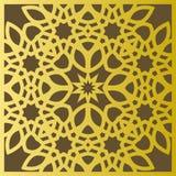 Traditionelle geometrische dekorative Mustergoldostart Arabischer Musterhintergrund Islamischer Verzierungsvektor Lizenzfreies Stockbild