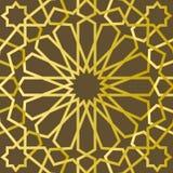 Traditionelle geometrische dekorative Mustergoldostart Arabischer Musterhintergrund Islamischer Verzierungsvektor Stockbilder