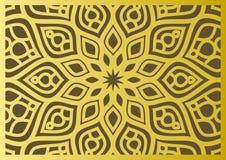 Traditionelle geometrische dekorative Mustergoldostart Arabischer Musterhintergrund Islamischer Verzierungsvektor Lizenzfreies Stockfoto