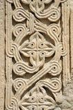 Traditionelle georgische Blumenverzierung, Bagrati-Kathedrale, Kutaisi Stockbilder