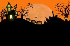 Traditionelle gespenstische Halloween-Designschablone Lizenzfreie Stockfotografie