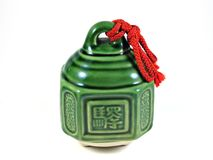 Traditionelle Glocke Japan getrennt Stockbild