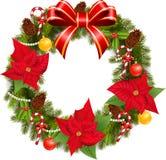 Traditionelle grüne Weihnachtsdekoration Lizenzfreies Stockbild
