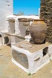 Traditionelle griechische Architektur auf die Kykladen-Inseln Lizenzfreies Stockbild