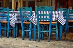 traditionelle griechische Taverne Stockfotografie