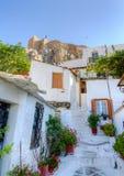 Traditionelle Häuser bei Plaka, Athen, Griechenland Lizenzfreie Stockfotografie
