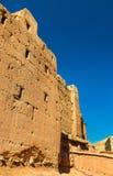 Traditionelle Häuser in Bou Tharar-Dorf Marokko, das Tal von Rosen Stockbild