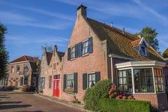 Traditionelle Häuser in der Mitte von Blokzijl Lizenzfreies Stockfoto