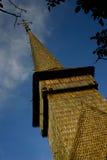 Traditionelle hölzerne Kirche in Rumänien. Lizenzfreies Stockfoto