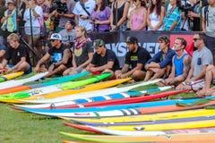 Traditionelle hawaiische Eröffnungsfeier Eddie Aikaus Lizenzfreies Stockbild