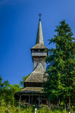 Traditionelle hölzerne Kirche in Maramures-Bereich, Rumänien Stockfotos