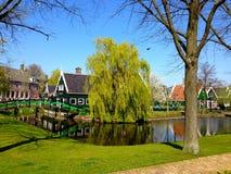 traditionelle holländische Häuser Stockfoto