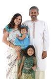 Traditionelle indische Familie stockbilder