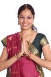 Traditionelle indische Frau Stockfoto
