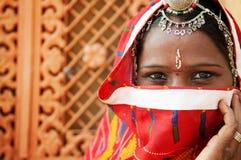 Traditionelle indische Frau Stockbild