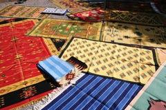 Traditionelle indische Teppiche Stockbild