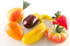 Traditionelle italienische Gebäckfrucht geformt Lizenzfreie Stockfotografie