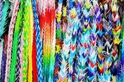 Traditionelle Japaner tausend Origamikräne für Japan nennen Senb Stockfoto