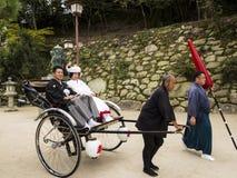 Traditionelle japanische Hochzeitspaare Stockbild