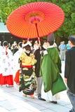 Traditionelle japanische Hochzeitszeremonie Stockbild