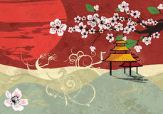 Traditionelle japanische Landschaft Stockfotos