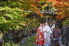 Traditionelle japanische Paare Stockfotografie
