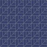 Traditionelle japanische Stickerei-Verzierung Sashiko mit Blättern Verschiedene Varianten der Farbe sind möglich Lizenzfreies Stockfoto