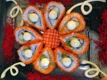 Traditionelle japanische Sushi Stockfotos