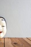 Traditionelle japanische Theatermasken gemacht vom Eisen Lizenzfreies Stockbild