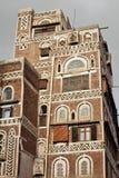 Traditionelle jemenitische Gebäude lizenzfreies stockbild