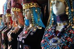 Traditionelle jordanische Kostüme stockfoto