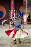 Traditionelle Kampfkunst-Probeleistung am 23. Dezember 2016 Gyeonggi-tun, Suwon-Si, Südkorea Stockbilder