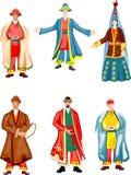 Traditionelle kasachische Kleidung Stockfotos