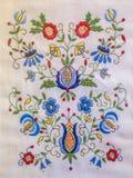 Traditionelle Kashubian-Stickerei Stockfotografie