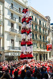 Traditionelle katalanische Show - Castell Lizenzfreie Stockbilder