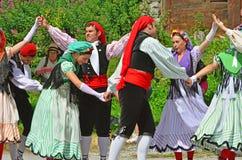 Traditionelle katalanische Tänzer Stockbild