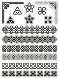 Traditionelle keltische Gestaltungselemente lizenzfreie abbildung